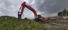 Hitachi Excavator with Jack hummer for rent Biniyam Taye Machinery Rental
